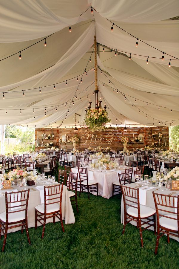 tented-rustic-themed-wedding-reception-ideas-with-hanging-lights